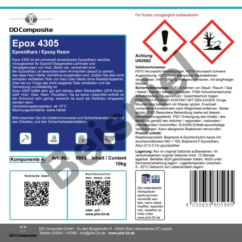 Etikett Beispiel mit GHS